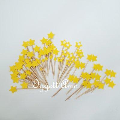 60 Cupcake toppers a forma di stella: decorazioni per il coordinato 'Aeroplanini tra le nuvole'
