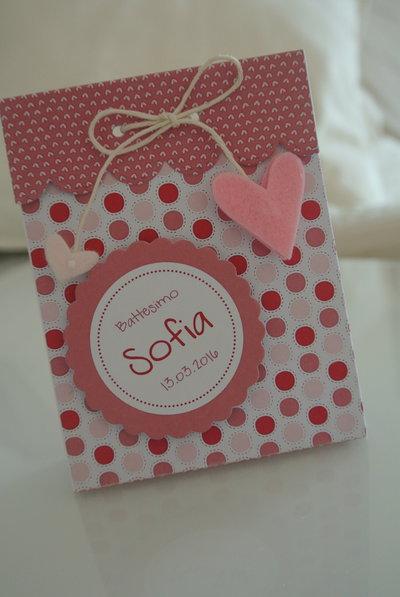 Bomboniera scatola a pois rosa