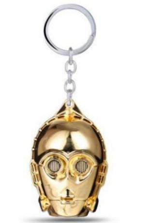 Portachiavi con ciondolo C-3PO droide di guerre stellari-star wars idea regalo