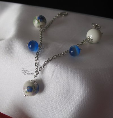 Bracciale con perle in ceramica