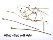 LOTTO 50 chiodini color bronzo (50X0,5mm) (cod.10340)