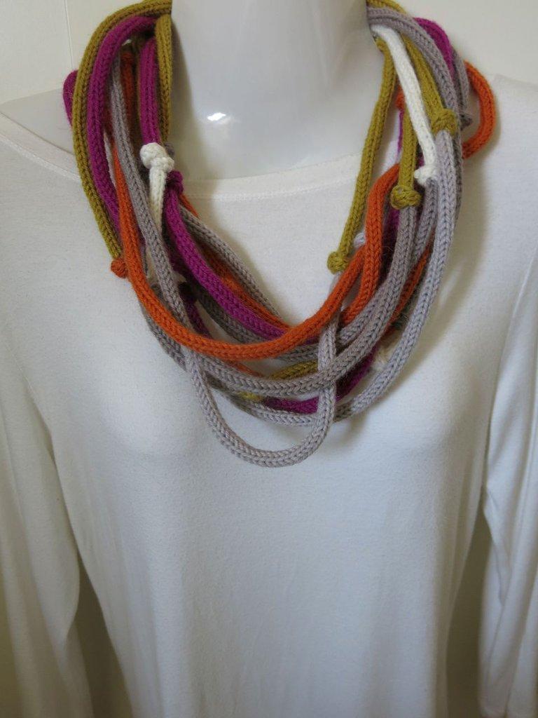 Collana infinity multicolore