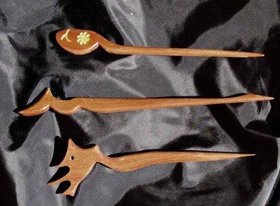 Spilloni fermacapelli in legno