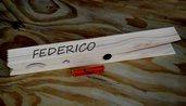 Molletta gigante in legno di pino