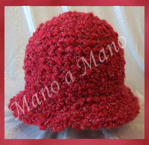 cappello a cloche Bambina - Rosso