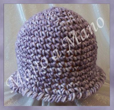 cappello a cloche Bambina - lilla bianco