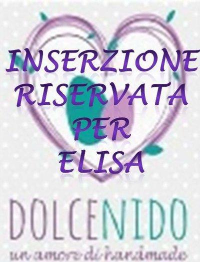 Inserzione riservata per Elisa