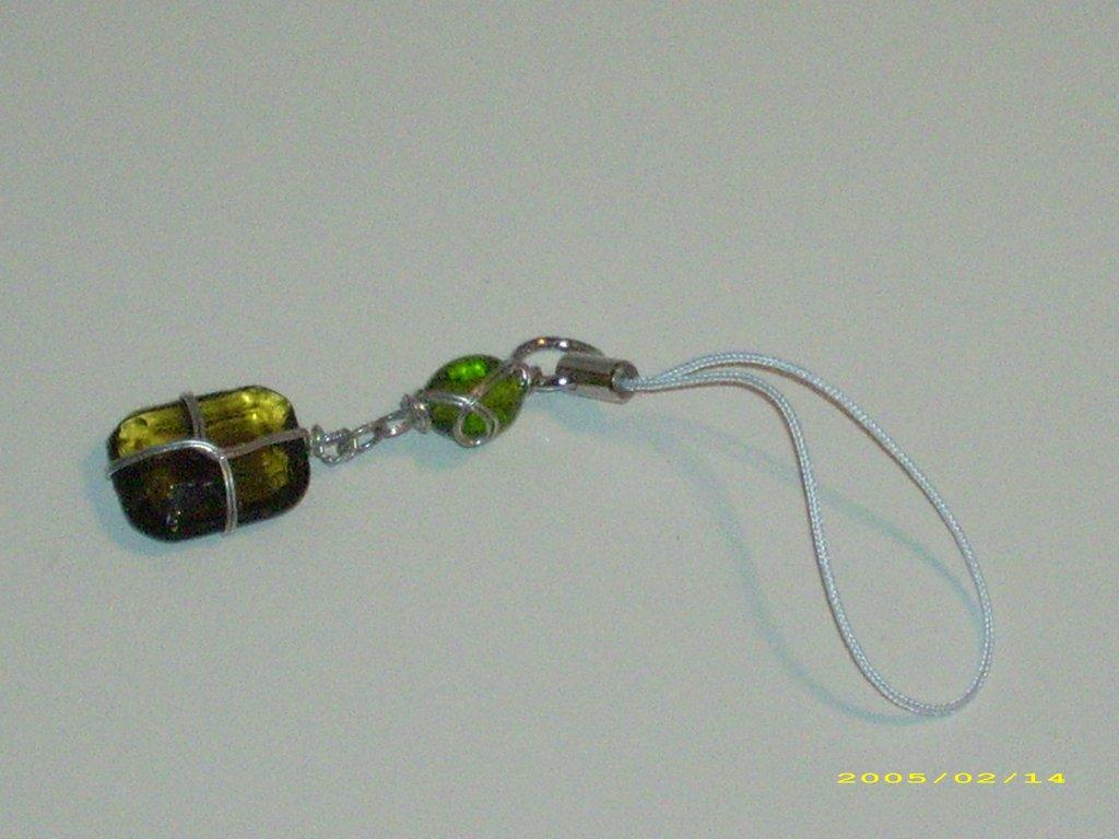 Phonestrap cellulare borsa borse perla vetro
