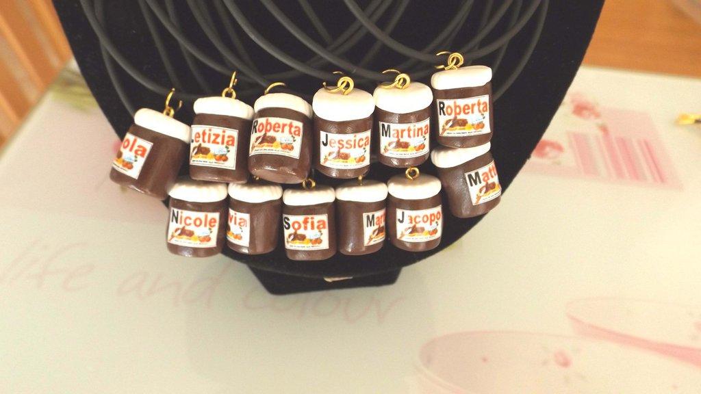 INSERZIONE RISERVATA PER DOMINIA - 45 pezzi collana cordino con nutelle fimo personalizzate