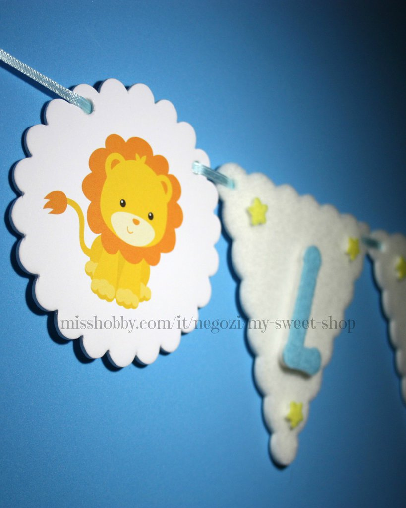 Banner bandierine con nome - decorazione leoni