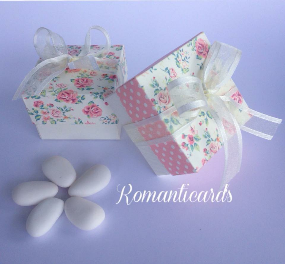 Scatoline come Bomboniera o Segna Posto con scritta personalizzata by Romanticards