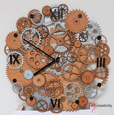 """Orologio """"Un cerchio di ingranaggi"""""""
