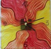 Orologio da parete dipinto a mano