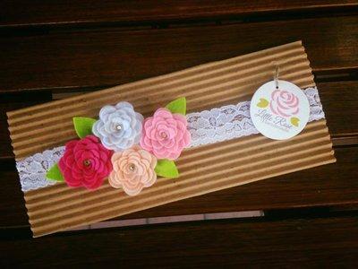 Fasca elastica per bambine neonati by Little Rose Handmade