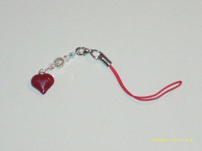 Phonestrap cellulare borsa borse cuore e swarovski