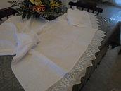 set asciugamano + ospite uncinetto