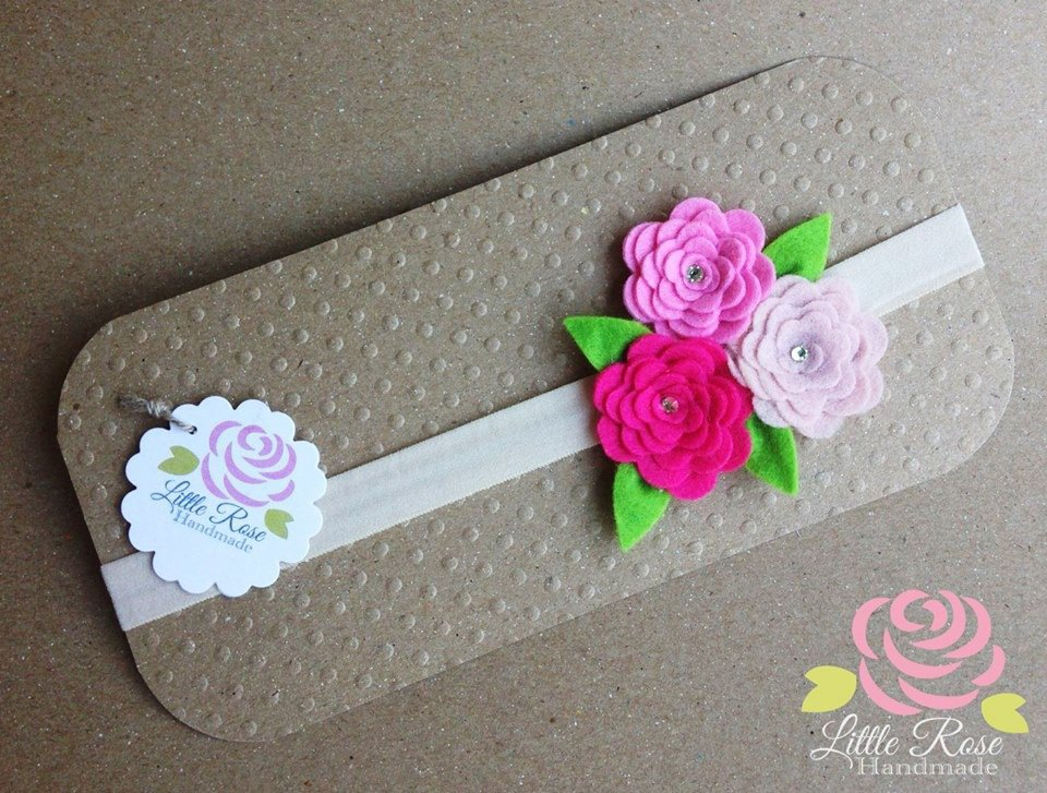 Fasce elastiche a rosellina by Little Rose Handmade