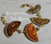 Bracciale capsule caffè marrone, arancione, oro