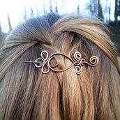 Spilla per capelli, spilla in rame, fermaglio capelli, fermasciarpe, accessorio sciarpa, accesorio capelli, accessori donna, per capelli.