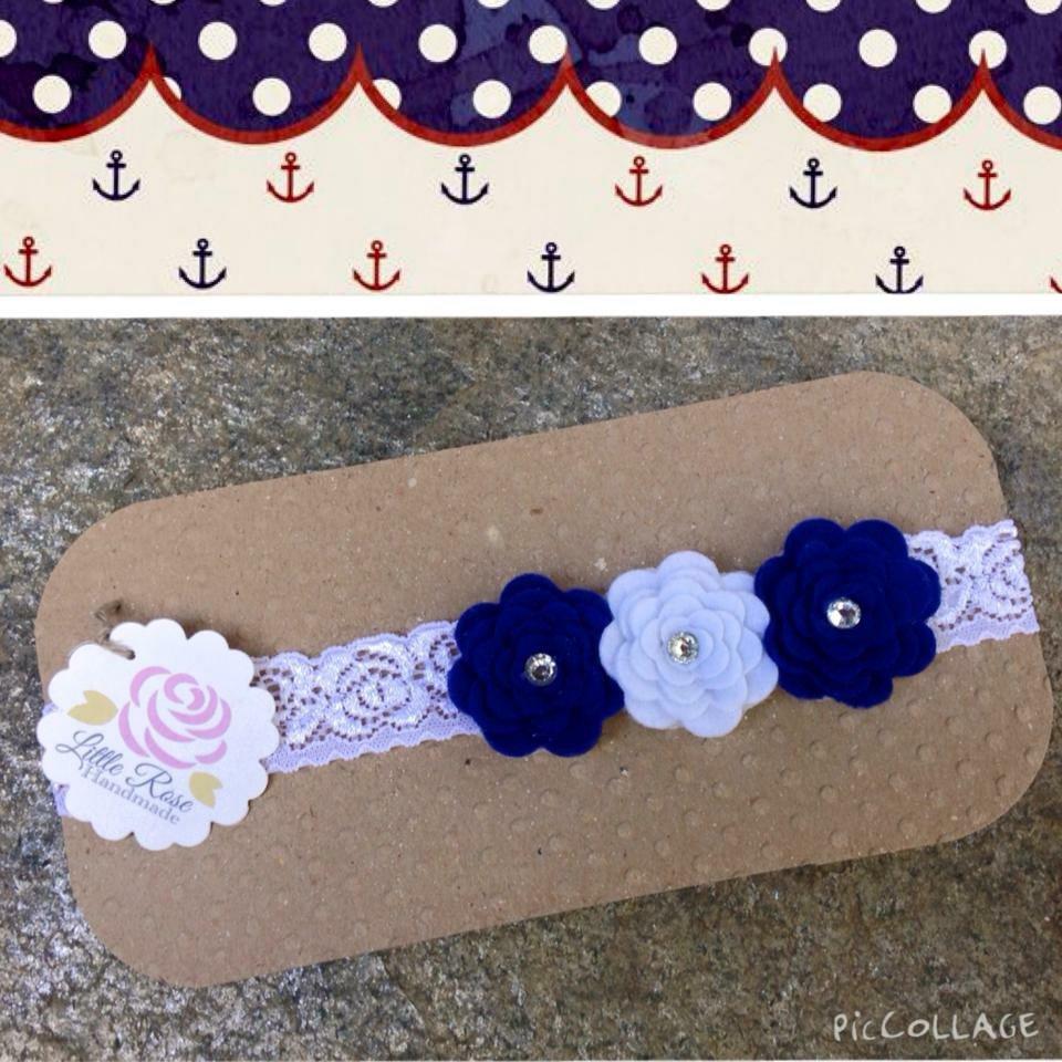 Fascia elastica a roseline in pizzo by Little Rose Handmade