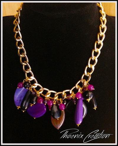 collana black and purple drop
