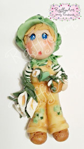 "Bambolina in pasta di mais ""My Country Dolls – Lily Boy"" (abbinabile a Miss Lily)"