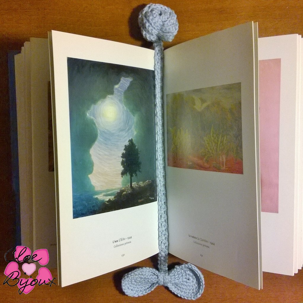 Segnalibro Fiocco e Rosellina Crochet