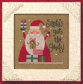 Santa's Got The Goods - Santa 08 - Schema Punto Croce Babbo Natale 2008 di Lizzie Kate
