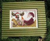 Moose Be Christmas - Schema Ricamo Punto Croce con campanellini