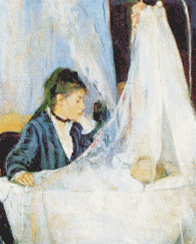 Morisot - The Cradle - Riproduzione d'Arte a punto croce