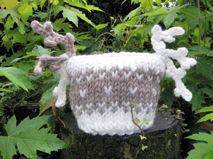 """cappellino neonato lana biologica """"jacquard"""""""