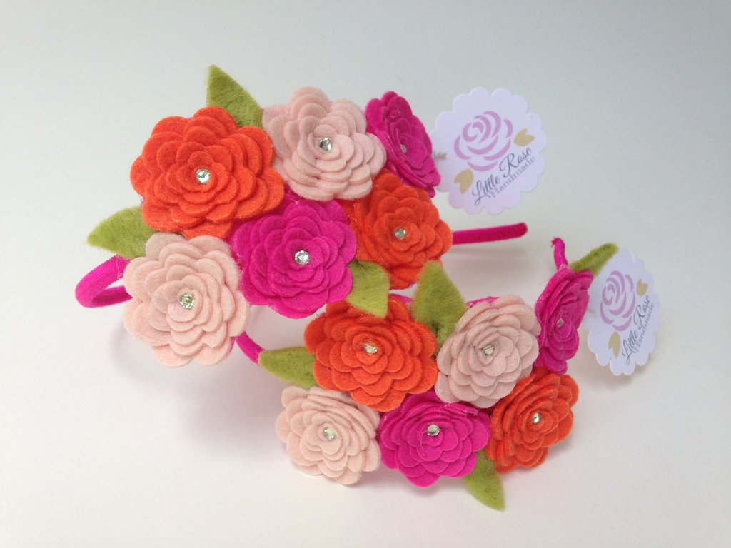 Cerchietto a Roselline by Litlle Rose Handmade
