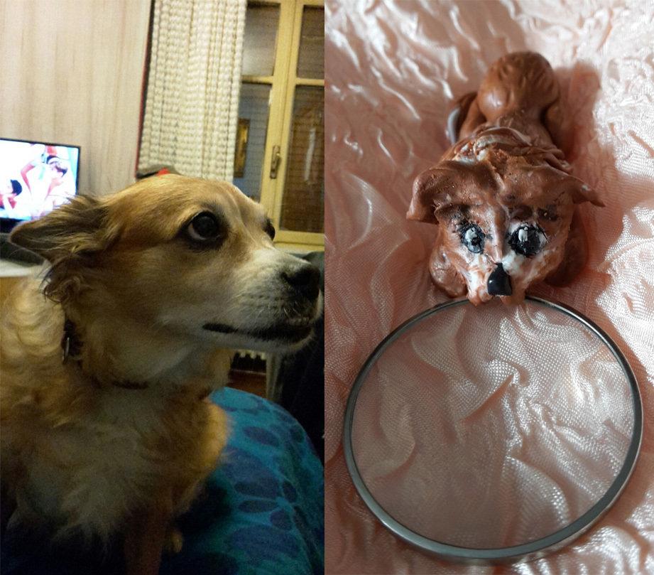Lente di ingrandimento - e ciondolo - personalizzata: cane volpino