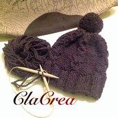 Berretto in pura lana fatto a mano
