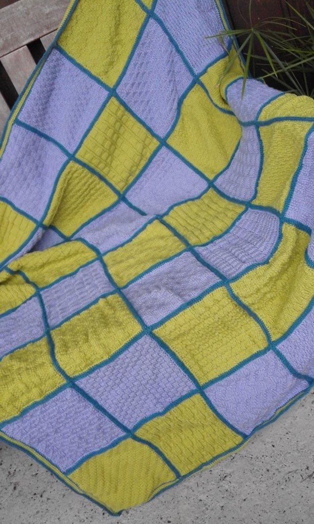 SALDI!!! Coperta crochet lana merino nuova fatta a mano (anche su ordinazione)