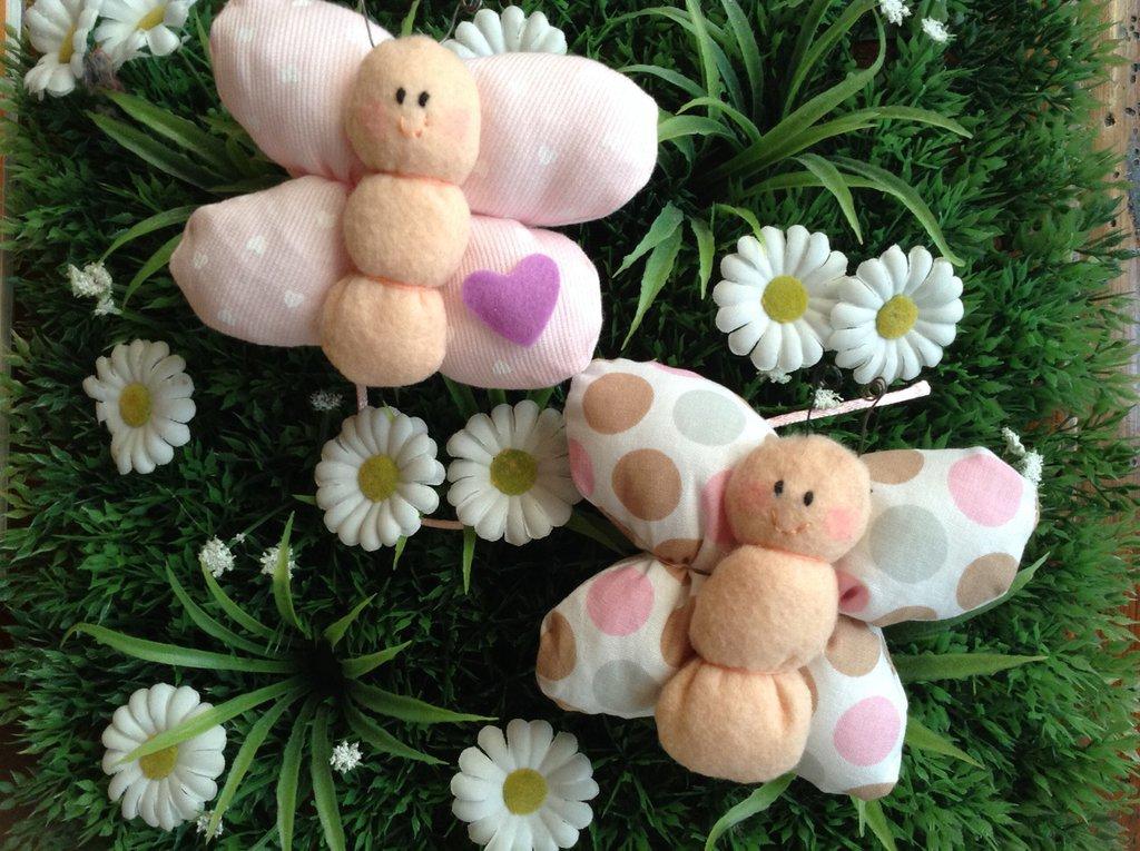 Farfalline cicciottose..bomboniera nascita battesimo comunione