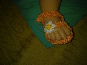 sandali nenonato uncinetto