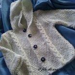 Giacchino/cappottino in lana per neonato con bottoni blu