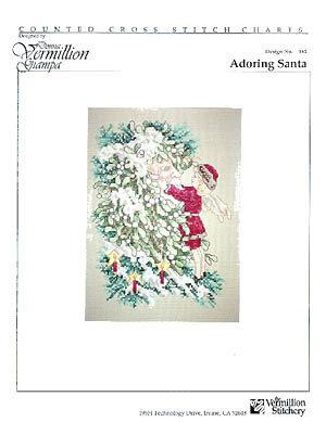 Adoring Santa - Schema Punto Croce Babbo Natale - Donna Vermillion