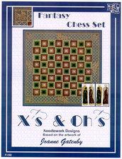Fantasy Chess Set - Schema Ricamo Punto Croce Scacchiera - X's & Oh's