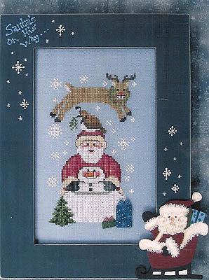 Christmas Short Stack - Schema Punto Croce Babbo Natale, Renna, Omino di Neve  - Waxing Moon Design