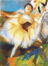Degas - Seated Dancer - Ballerina - Schema Punto Croce Riproduzione Quadro di Degas