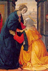 Ghirlandaio - La visitazione - Schema Punto Croce Riproduzione Opera d'Arte