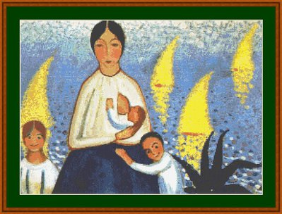 Salvador Dalì - Motherhood - Schema a Punto Croce Riproduzione Quadro Arte