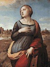 Raffaello - Santa Caterina d' Alessandria - Schema Punto Croce Riproduzione Artistica