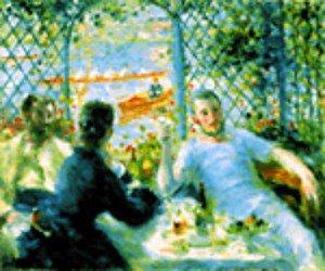 Renoir - ll Pranzo dei Canottieri - Schema Punto Croce Riproduzione d' Arte