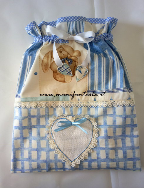 set 2 sacchetti neonato bimbo