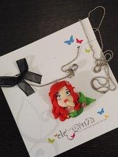 collana Ariel - La sirenetta modellata a mano - versione chibi