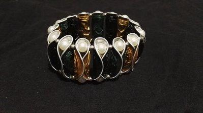 Bracciale cialde e perle