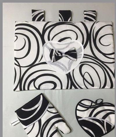 set 3 pezzi copri forno
